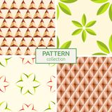 Set of four seamless fashion colorful patterns. Royalty Free Stock Image
