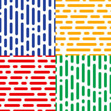 Set of four seamless halftone patterns. Abstract endless  backdrops Royalty Free Stock Photos