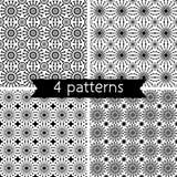 Set of Four Seamless Pattern. Stock Photos