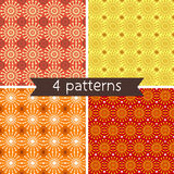Set of Four Seamless Pattern. Royalty Free Stock Images