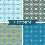 Set of Four Seamless Pattern. Royalty Free Stock Photo
