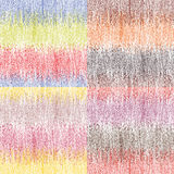 Set of four seamless pattern with colorful horizontal grunge stripes Royalty Free Stock Photo