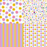 Set of four seamless pattern. Stock Images