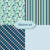 A set of four seamless patterns Stock Photo