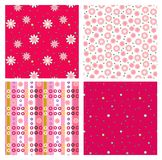 Set of four seamless patterns Royalty Free Stock Photos
