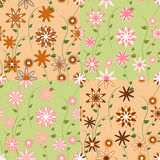 Set of four seamless patterns stock image