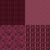 Set or four seamless patterns. Set of four abstract seamless patterns. Backgrounds for your design.Vector illustration Royalty Free Stock Image