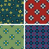 Set of four seamless patterns Royalty Free Stock Photography