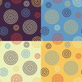 Set of four seamless patterns Royalty Free Stock Images