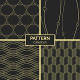 Set of four seamless patterns. Stock Photography