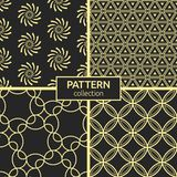 Set of four seamless patterns. vector illustration