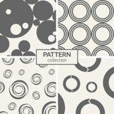 Set of four seamless patterns. Stock Photos