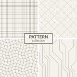 Set of four seamless patterns. Stock Image