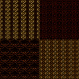Set or four seamless patterns Royalty Free Stock Photo