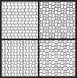 Black and white seamless patterns Royalty Free Stock Photo