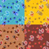 Set of four seamless patterns of children Royalty Free Stock Image