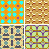 Set of four seamless patterns. Set of four seamless  patterns with circles Royalty Free Stock Image