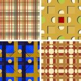 Set of four seamless  patterns Stock Photo