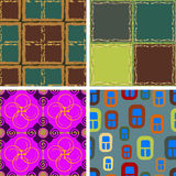 Set of four seamless patterns Royalty Free Stock Photo