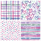 Set of four seamless patterns royalty free illustration