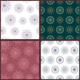 Set of four seamless patterns with hand drawn Royalty Free Stock Photography