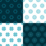 Set of four seamless patterns. Kazakh, Asian, floral. Floral pattern. Decorative background for greeting cards, invitations, web design Royalty Free Stock Photography