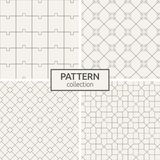 Set of four seamless patterns. royalty free illustration