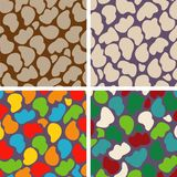 Set of four seamless patterns of stones royalty free stock image