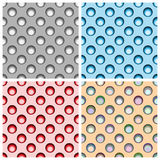 Set of four seamless patterns type polka performed in different Stock Image