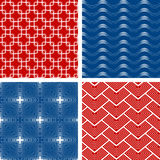 Set of four seamless patterns Stock Images