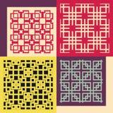 Set of four seamless patterns. Vintage geometric Royalty Free Stock Image
