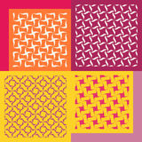 Set of four seamless patterns. Vintage geometric ornaments. Royalty Free Stock Photography
