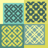 Set of four seamless patterns. Vintage geometric ornaments. Royalty Free Stock Photo