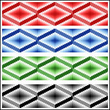 Set of four seamless rhombic patterns Royalty Free Stock Photos