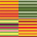 Set of four seamless striped geometric patterns. Of different colors Stock Images
