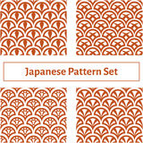 Set of four seamless texture in the Japanese style Stock Photo
