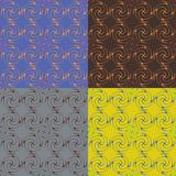 Set of four seamless vector patterns Stock Images