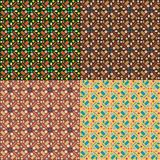 Set of four seamless vector patterns Royalty Free Stock Images