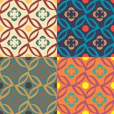 Set of four seamless vector patterns Stock Photos