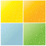 Set of four seamless water dew drops texture Stock Photography