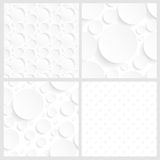 Set of four seamless white backgrounds Royalty Free Stock Photo