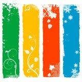 Set of four season vertical banners Stock Photos