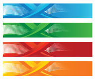 Set of four seasonal halftone digital banners Stock Photo