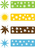 Set of four seasons icons Stock Photo