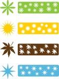 Set of four seasons icons Stock Photo