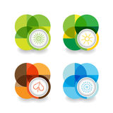 Set of four seasons icons Stock Photography