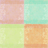 Set of four shabby floral backgrounds Stock Images