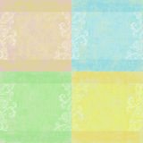 Set of four shabby floral backgrounds. Set of four square floral theme background textures for photos or crafting Stock Illustration