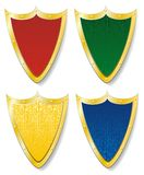 Set of four shields Stock Photography