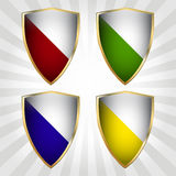 Set of four shields Stock Photo
